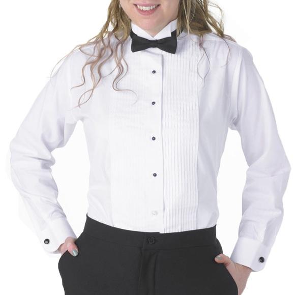 Henry Segal Mens Tuxedo Shirt 1//4 Inch Pleat Laydown Collar